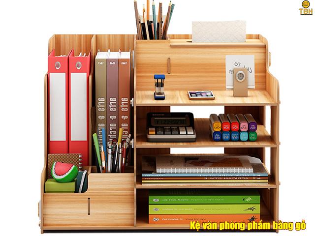 Kệ văn phòng phẩm bằng gỗ, mang vẻ đẹp thời thượng, sang trọng hơn