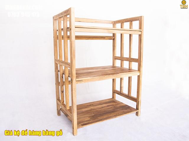 Giá kệ để đồ bằng gỗ đẹp, tiện lợi