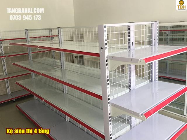 kệ siêu thị 4 tầng
