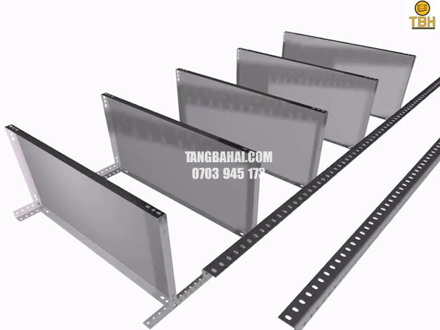 ứng dụng của kệ sắt v lỗ treo tường