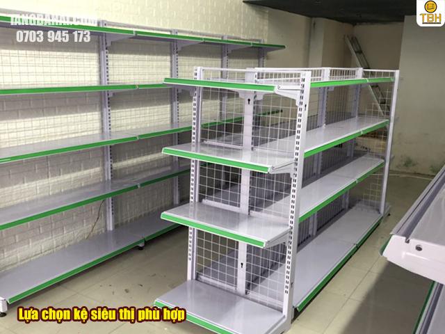 cách lựa chọn giá kệ siêu thị